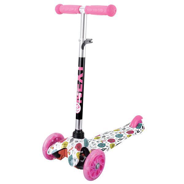 Купить Самокат 3-х колесный - Next, розовый, управление наклоном, со светящимися PU колесами