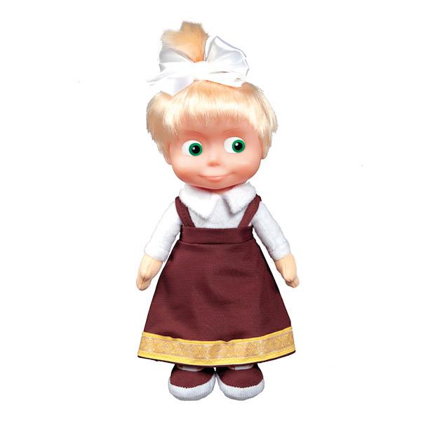 Мягкая игрушка Маша в костюме ученицы озвученная, с музыкальным чипом, 29 см.Говорящие игрушки<br>Мягкая игрушка Маша в костюме ученицы озвученная, с музыкальным чипом, 29 см.<br>