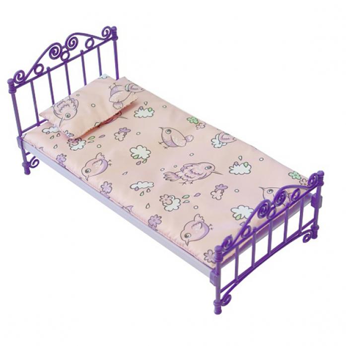 Кроватка с постельным бельем, в пакетеКукольные домики<br>Кроватка с постельным бельем, в пакете<br>