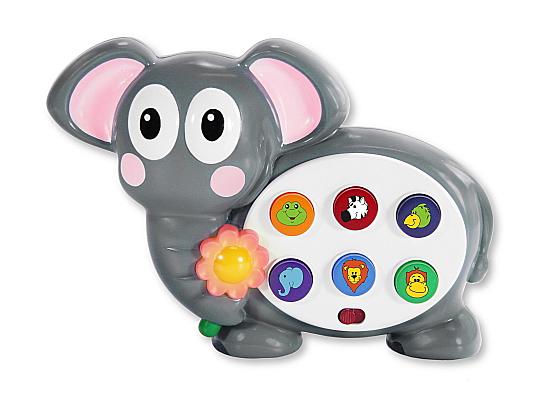 Развивающая игрушка – Слоник, со звуковым и световым эффектами - Интерактив для малышей, артикул: 108216