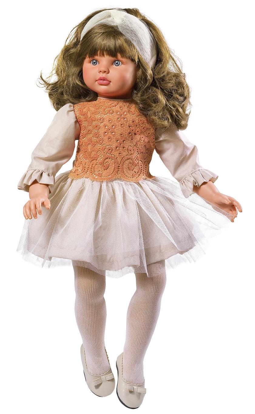 Кукла Пепа в платье с шифоновым подолом, 60 см.Куклы ASI (Испания)<br>Кукла Пепа в платье с шифоновым подолом, 60 см.<br>