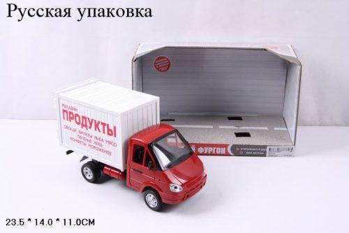 Купить Инерционная машина Газель фургон Продукты со светом и звуком, открывается дверь, 24 см, Play Smart