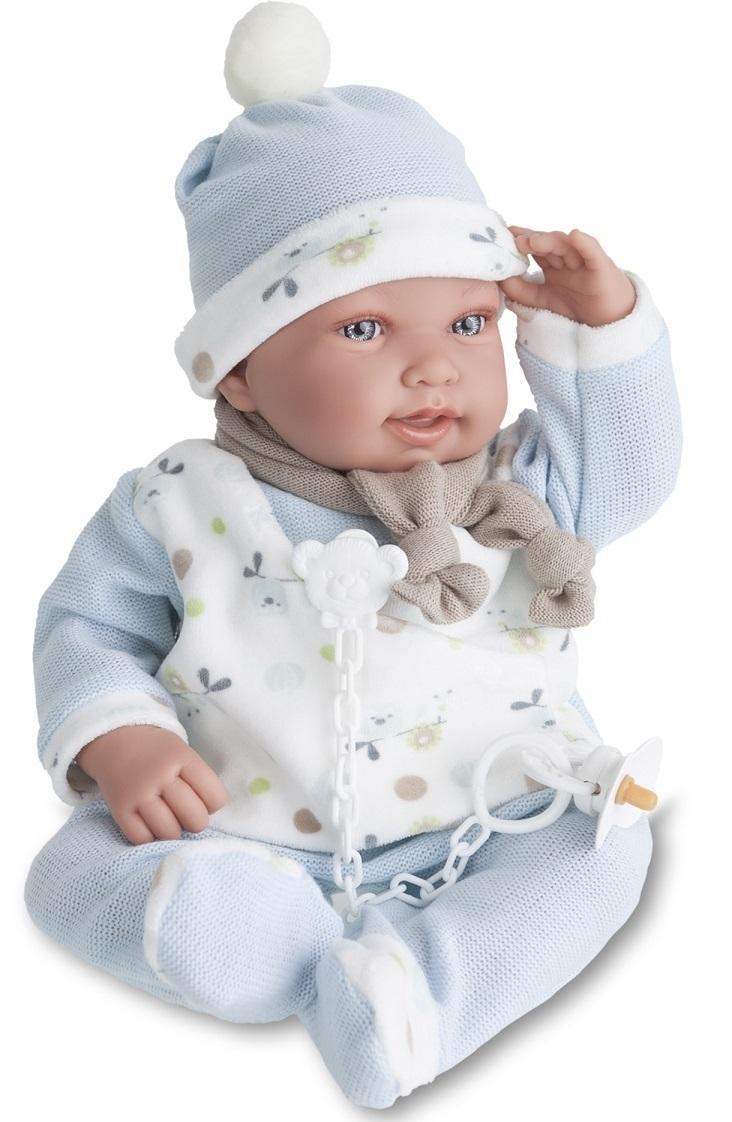 Кукла Камилло в голубом, озвученная, 40 см.Куклы Антонио Хуан (Antonio Juan Munecas)<br>Кукла Камилло в голубом, озвученная, 40 см.<br>