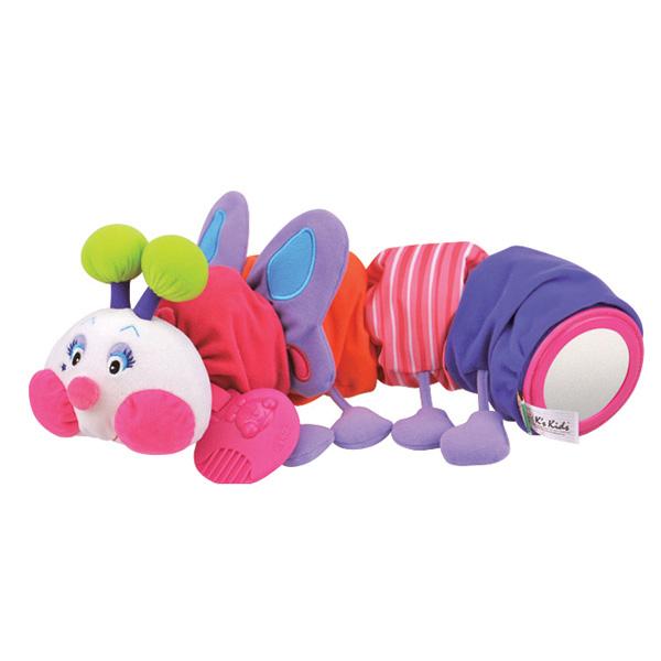 Развивающая мягкая игрушка Гусеничка-бабочкаДетские погремушки и подвесные игрушки на кроватку<br>Развивающая мягкая игрушка Гусеничка-бабочка<br>