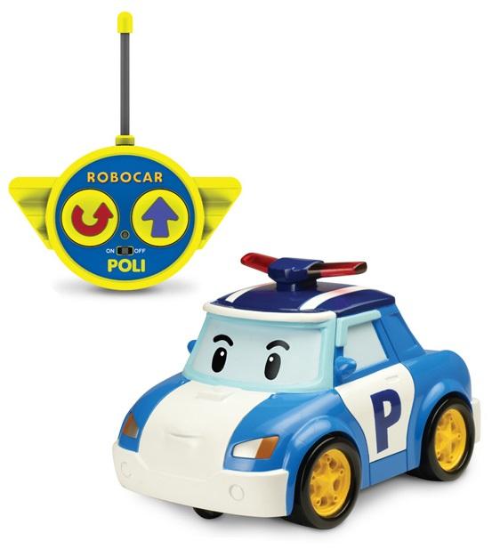 Радиоуправляемая машинка Поли, свет фар, сирена на крыше и звук сирены - Robocar Poli. Робокар Поли и его друзья, артикул: 24259