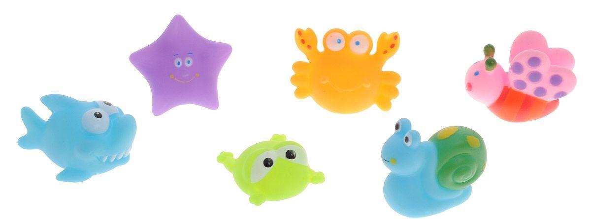 Набор резиновых игрушек для ванной – Веселое купание, 6 шт.Резиновые игрушки<br>Набор резиновых игрушек для ванной – Веселое купание, 6 шт.<br>