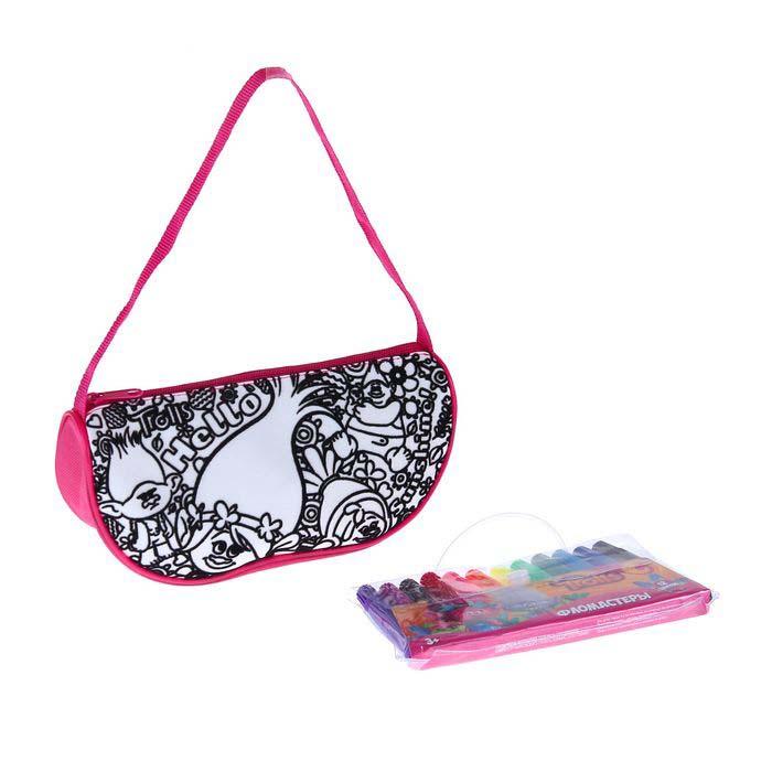 Купить Набор для творчества Тролли - Раскрась сумку, Centrum
