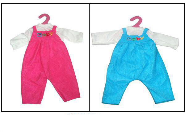 Купить Одежда для кукол – комбинезон, красный/синий, JUNFA TOYS