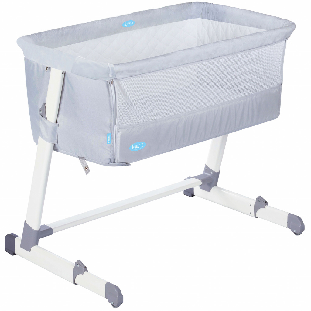 Детская приставная кроватка Nuovita Accanto, latteria / молочный фото