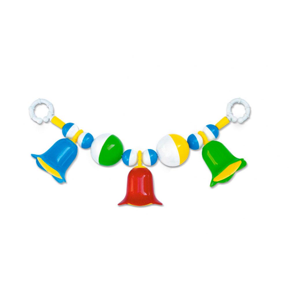 Погремушка-подвеска «Колокольчики» на коляскуДетские погремушки и подвесные игрушки на кроватку<br>Погремушка-подвеска «Колокольчики» на коляску<br>