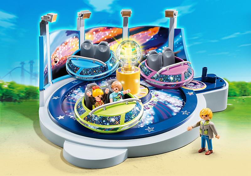 Игровой набор из серии «Парк развлечений» - Аттракцион «Звездолет с огнями»Веселые каникулы<br>Игровой набор из серии «Парк развлечений» - Аттракцион «Звездолет с огнями»<br>