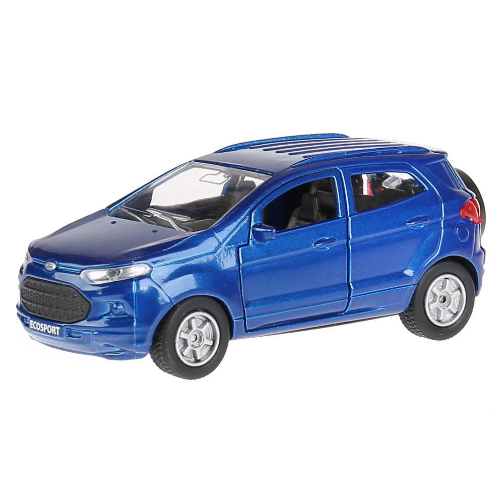 Купить Модель Ford Ecosport, синий, 12 см, открываются двери, инерционный -WB), Технопарк