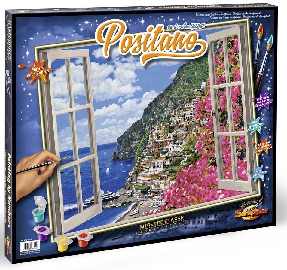 Раскраска по номерам Позитиано на Амальфитанском побережье, 50 х 60 смРаскраски по номерам Schipper<br>Раскраска по номерам Позитиано на Амальфитанском побережье, 50 х 60 см<br>
