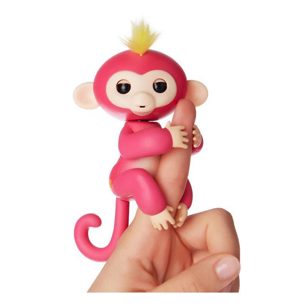 Интерактивная ручная обезьянка Fingerlings WowWee – Белла, розовая, 12 смИнтерактивные обезьянки Fingerlings<br>Интерактивная ручная обезьянка Fingerlings WowWee – Белла, розовая, 12 см<br>