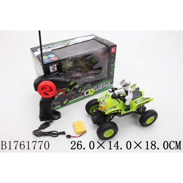 Купить Квадроцикл радиоуправляемый на аккумуляторе с фигуркой, usb зарядное устройство, несколько цветов