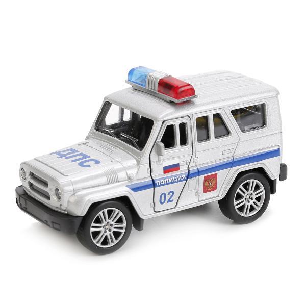 Купить Металлическая инерционная модель – Uaz Hunter Полиция, 11, 5 см, Технопарк