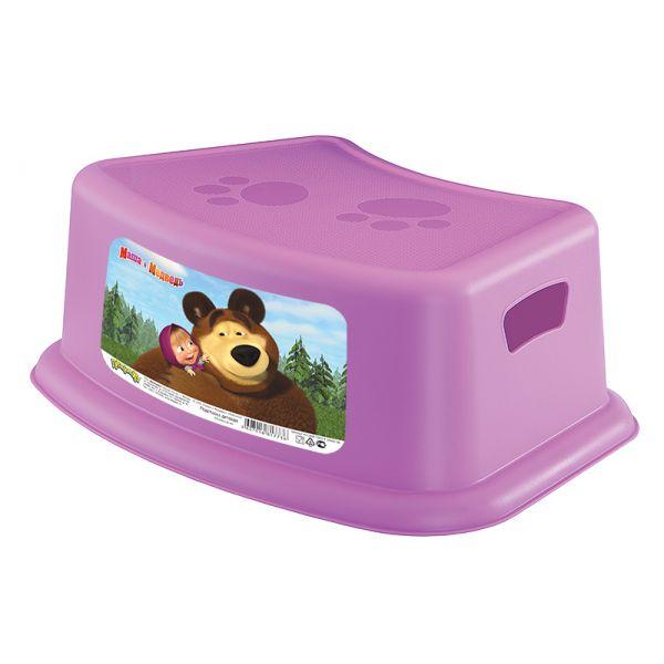 Подставка детская Маша и Медведь, цвет сиреневыйгоршки и сиденья для унитаза<br>Подставка детская Маша и Медведь, цвет сиреневый<br>
