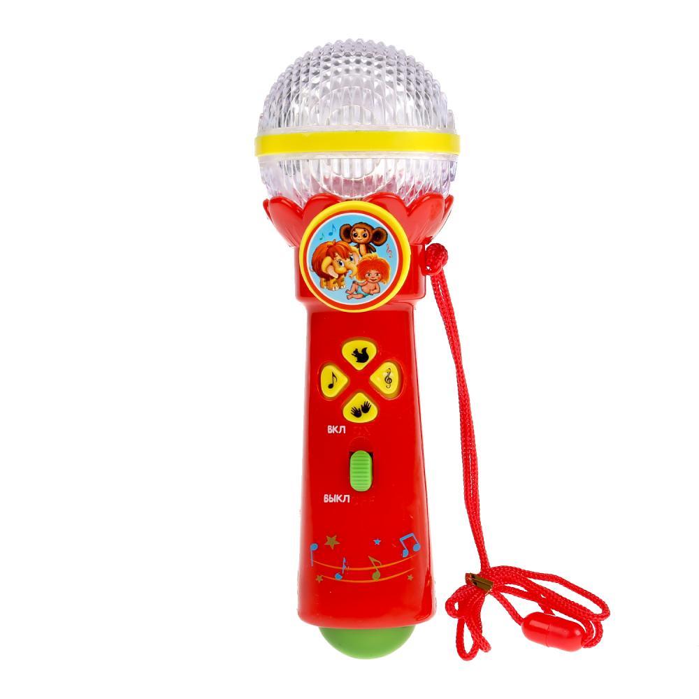 Купить Микрофон с музыкой Шаинского, 10 песен из мультфильмов, 10 потешек, Умка