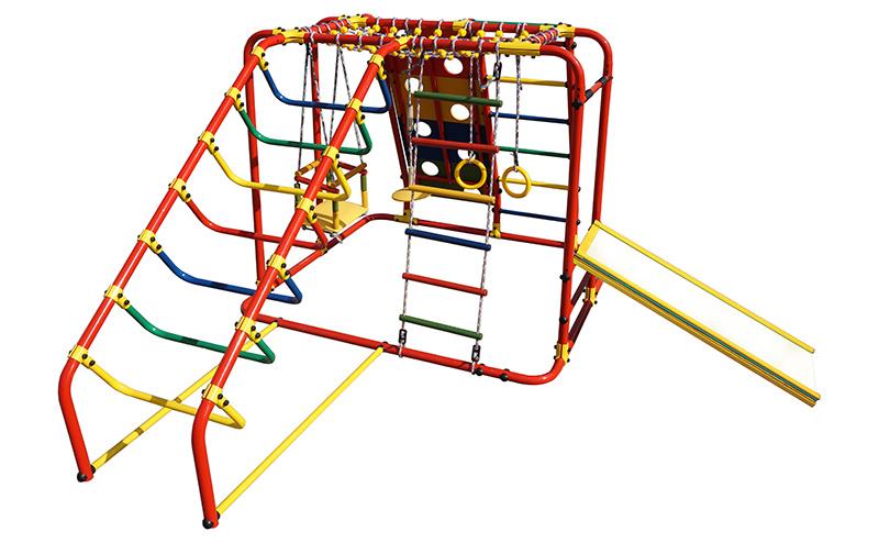 Купить Детский спортивный комплекс Артек N Плюс, цвет - оранжевый/радуга, Формула здоровья