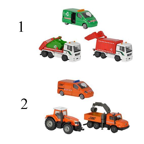 Купить Игровой набор - Городская техника, с 3 машинками, 7, 5 см., 2 вида, Majorette
