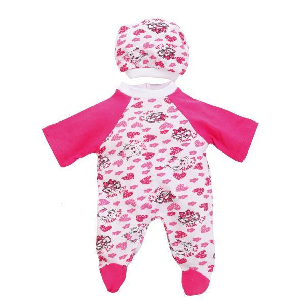 Комплект одежды для куклы Карапуз - Комбинезон с шапочкой, 40-42 см, розовыйОдежда для кукол<br>Комплект одежды для куклы Карапуз - Комбинезон с шапочкой, 40-42 см, розовый<br>