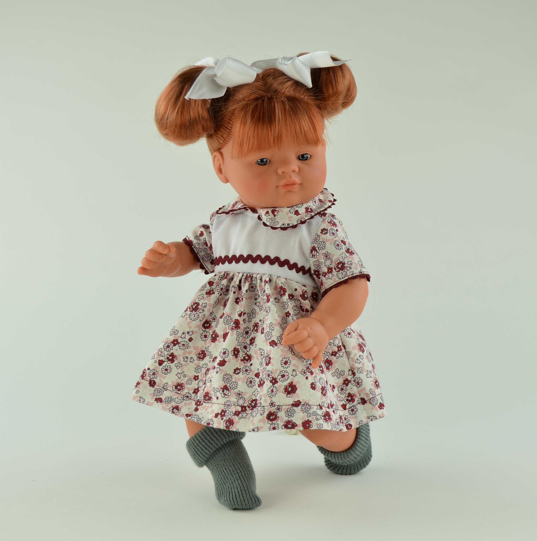 Кукла Джулия в серых носочках, 36 см.Куклы ASI (Испания)<br>Кукла Джулия в серых носочках, 36 см.<br>