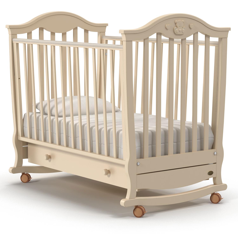 Купить Детская кровать Nuovita Sorriso dondolo, цвет - Avorio/Слоновая кость