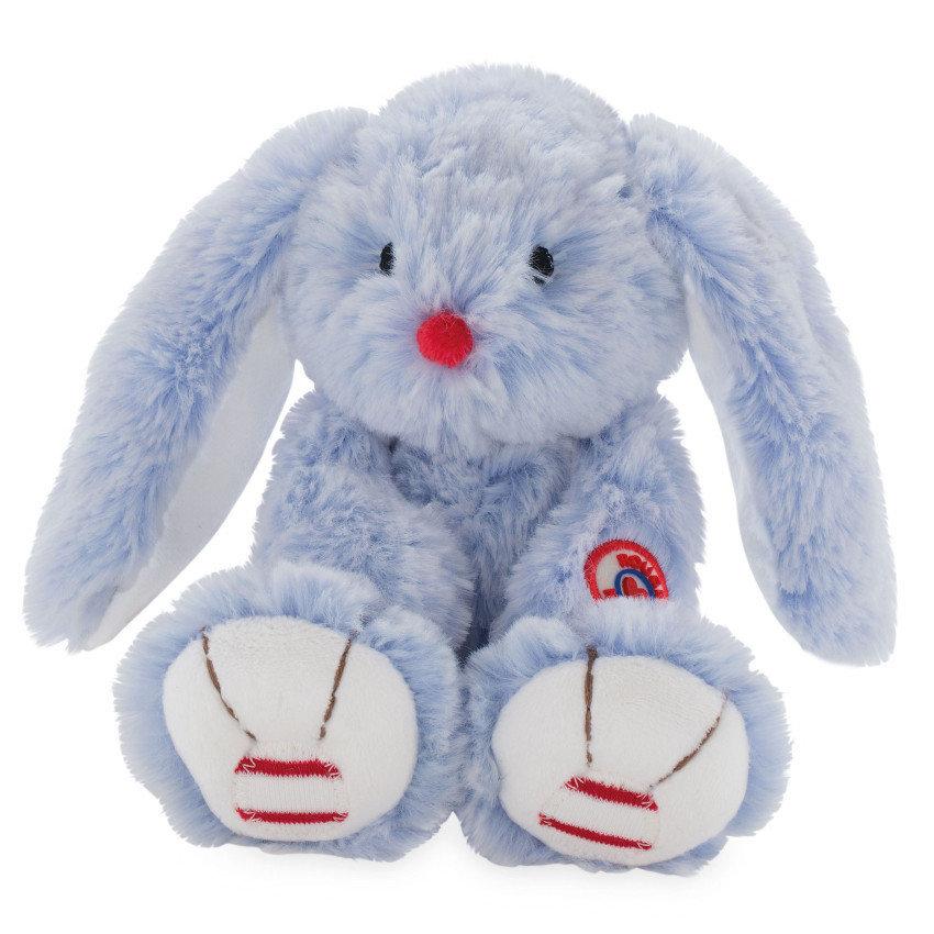 Купить Мягкая игрушка Руж – Заяц. Голубой, 31 см, Kaloo