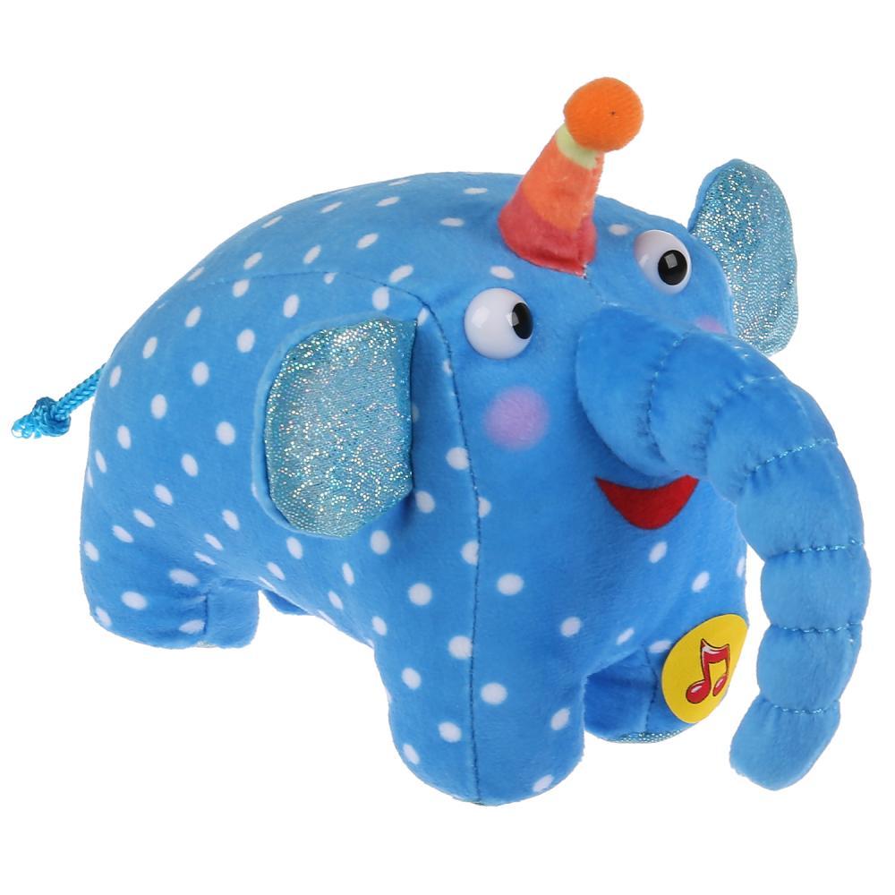 Купить Игрушка мягкая из серии Деревяшки Слон Ду-Ду, 15 см, музыкальный чип, Мульти-Пульти