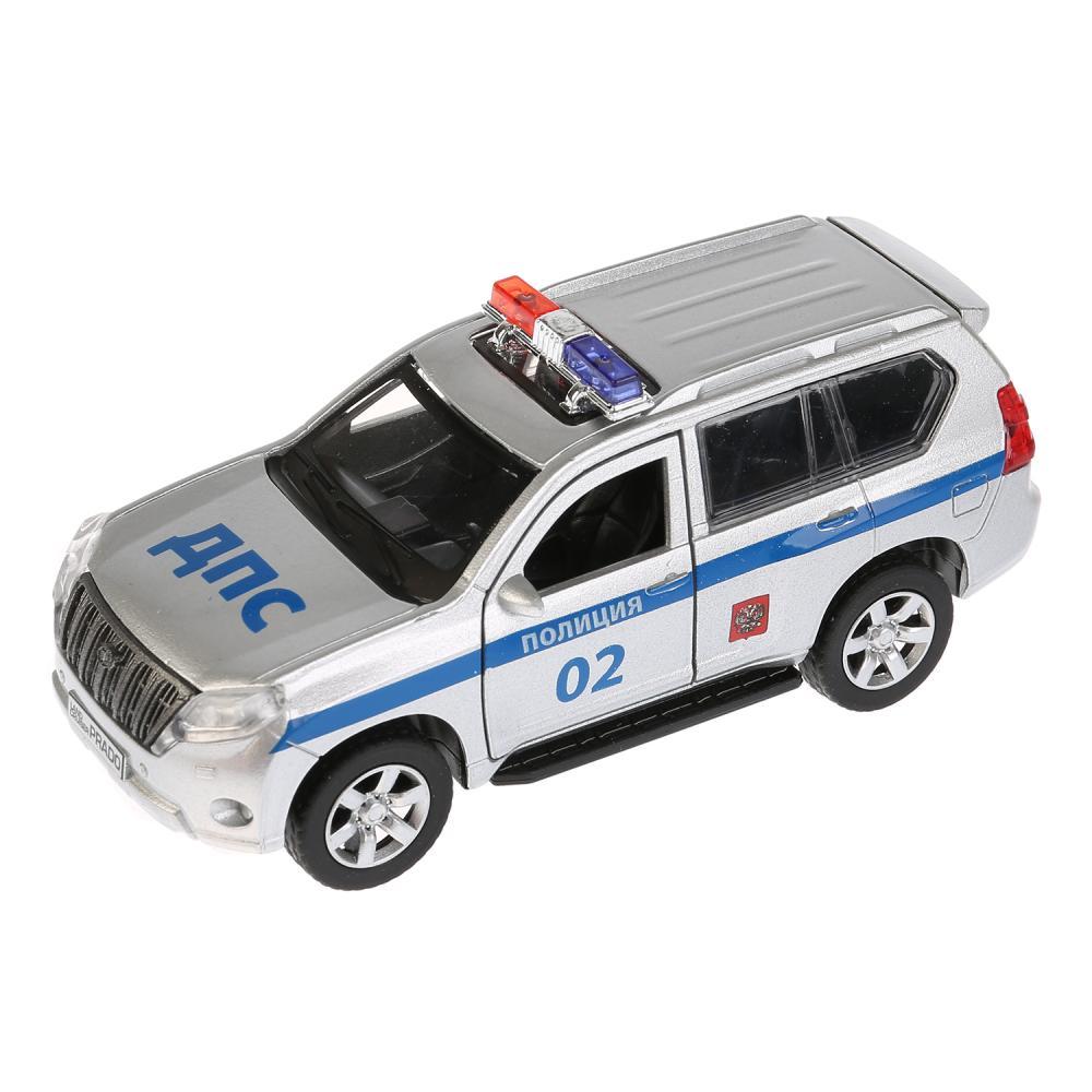 Инерционная металлическая машина - Toyota Prado Полиция, 12 см, Технопарк  - купить со скидкой