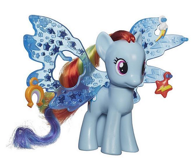 Игровой набор - Пони Делюкс Рейнбоу Дэш с волшебными крыльями, My Little PonyМоя маленькая пони (My Little Pony)<br>Игровой набор - Пони Делюкс Рейнбоу Дэш с волшебными крыльями, My Little Pony<br>