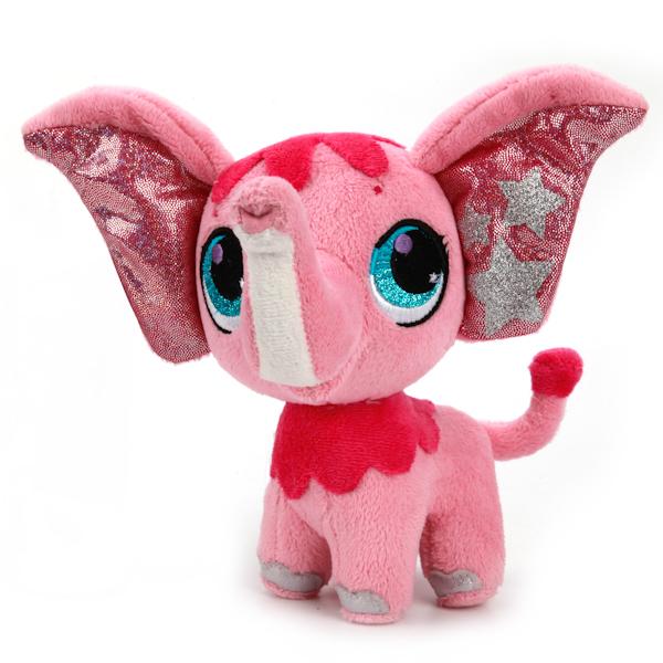 Купить Мягкая игрушка Слоник из мультфильма «Littlest Pet Shop», 16 см., озвученная с русским чипом, Мульти-Пульти