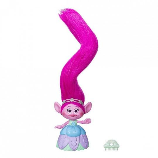 Trolls. Поопи с супер длинными поднимающимися волосамиТролли игрушки<br>Trolls. Поопи с супер длинными поднимающимися волосами<br>