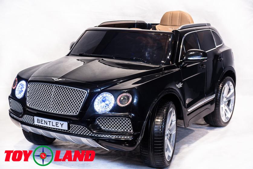 Электромобиль Bentley Bentayga черного цветаЭлектромобили, детские машины на аккумуляторе<br>Электромобиль Bentley Bentayga черного цвета<br>