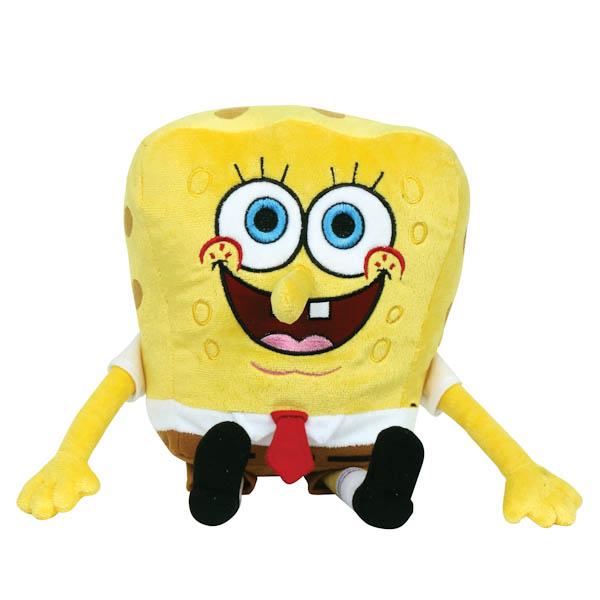 Интерактивная мягкая игрушка – Губка Боб, озвученный, русский чип, 20 см.