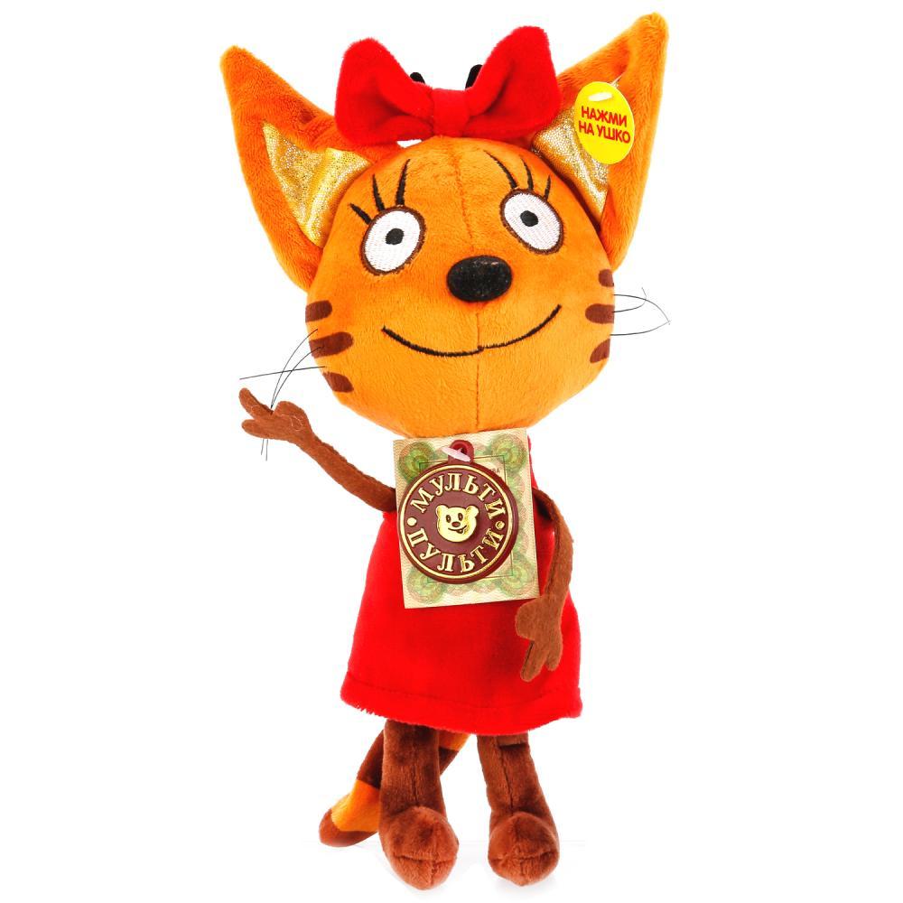 Купить Мягкая игрушка – Карамелька из серии 3 кота, озвученная, 16 см., Мульти-Пульти
