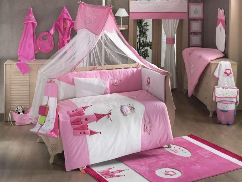 Комплект постельного белья из 6 предметов серии Little PrincessДетское постельное белье<br>Комплект постельного белья из 6 предметов серии Little Princess<br>