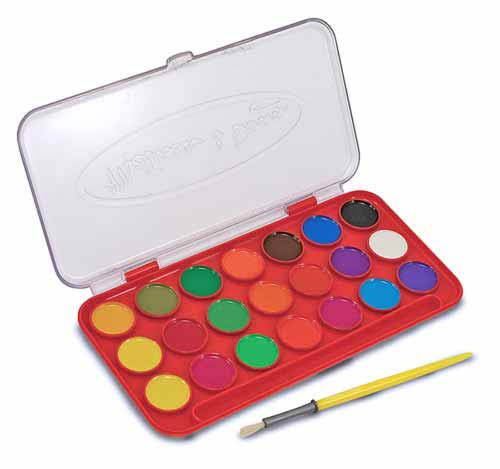Набор акварельных красок «Делюкс», 21 цветКраски<br>Набор акварельных красок «Делюкс», 21 цвет<br>