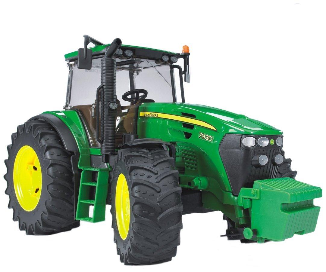 Трактор Bruder John Deere 7930 с подъемным капотом, зеленыйИгрушечные тракторы<br>Трактор Bruder John Deere 7930 с подъемным капотом, зеленый<br>