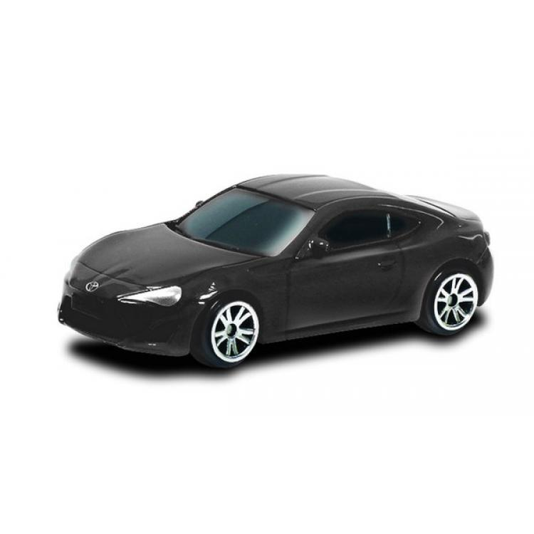 Машина металлическая Toyota 86, 1:64, черный матовый цветToyota<br>Машина металлическая Toyota 86, 1:64, черный матовый цвет<br>