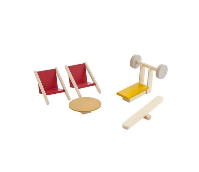 Набор мебели для мини-кукол – Спортивный уголок