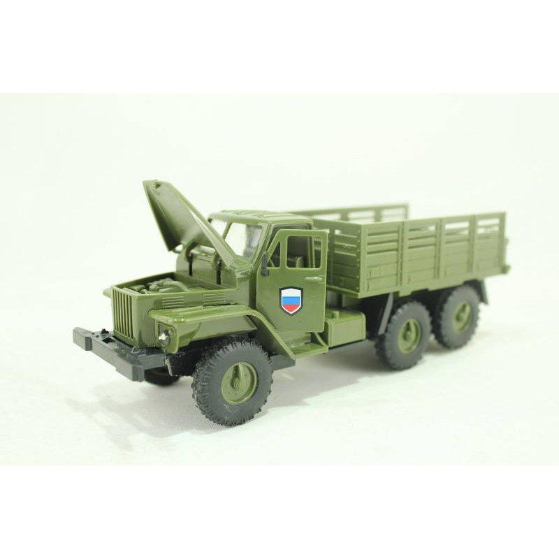 Купить Инерционный военный бортовой грузовик - Урал, световые и звуковые эффекты, Yako Toys