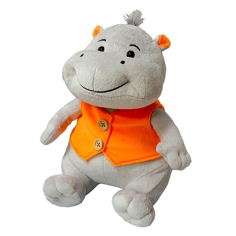 Мягкая игрушка - Бегемотик Саша – Улыбчивый, озвученный, 23 смДомашние животные<br>Мягкая игрушка - Бегемотик Саша – Улыбчивый, озвученный, 23 см<br>