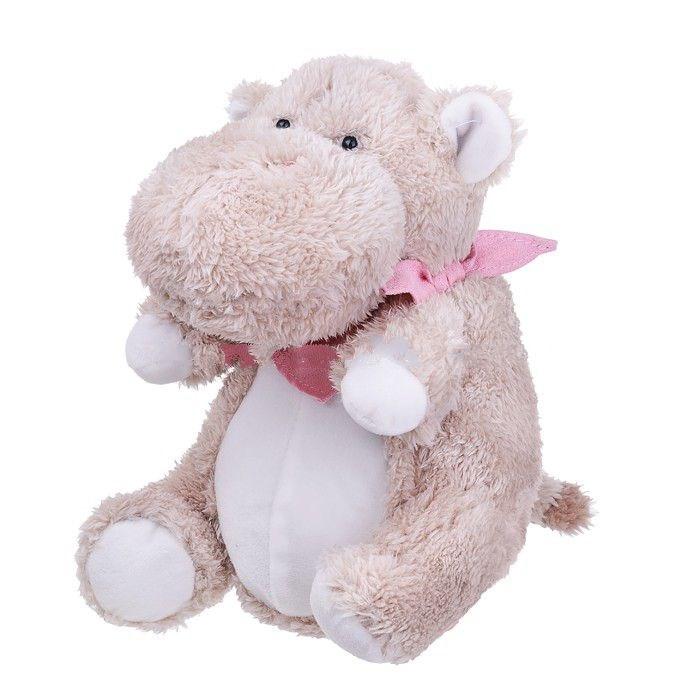 Мягкая игрушка – Бегемотик Ральф, 25 см.Животные<br>Мягкая игрушка – Бегемотик Ральф, 25 см.<br>