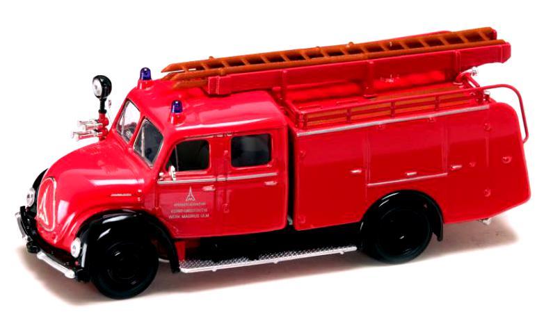 Модель пожарного автомобиля Магирус-Дютц Меркур TLF 16, образца 1961 года, масштаб 1/43Пожарная техника, машины<br>Модель пожарного автомобиля Магирус-Дютц Меркур TLF 16, образца 1961 года, масштаб 1/43<br>