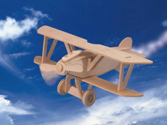 Купить Сборная деревянная модель - Самолёт Альбатрос, Wooden Toys