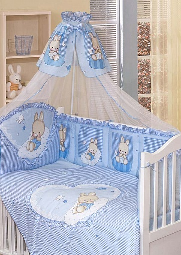 Комплект – Степашка, голубойДетское постельное белье<br>Комплект – Степашка, голубой<br>