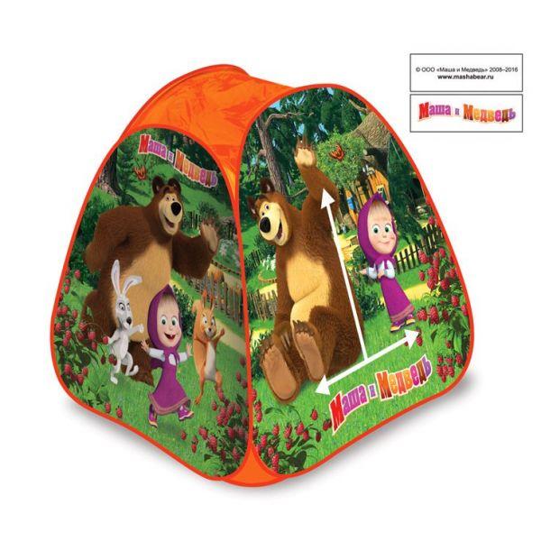 Купить Детская игровая палатка – Маша и медведь, в сумке, Играем вместе