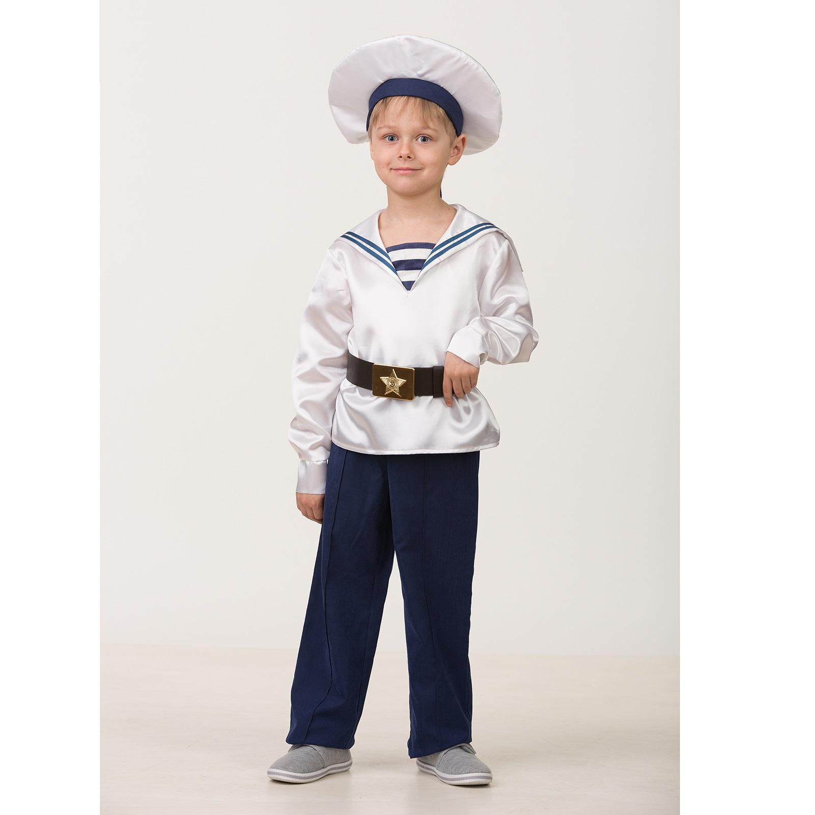 Карнавальный костюм Матрос парадный из серии Профессии, размер 146-72 фото