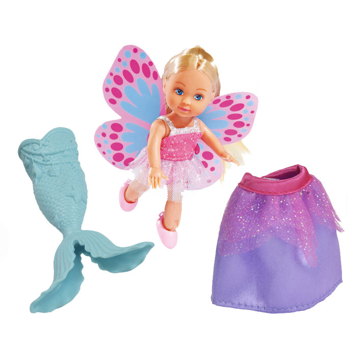 Кукла Еви русалочка с крылышками и юбочкой, 12 см.Куклы Еви<br>Кукла Еви русалочка с крылышками и юбочкой, 12 см.<br>